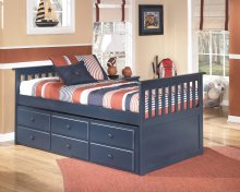Leo - Blue 4 Piece Bed Set (Twin)