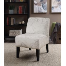 Parma Beige Atlas Slipper Accent Chair
