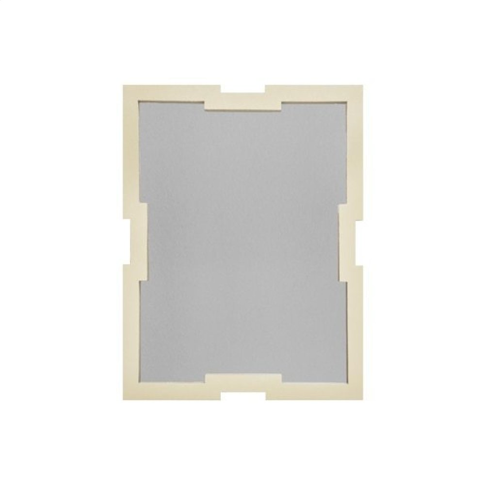 Classic Frame Mirror In Cream Faux Shagreen