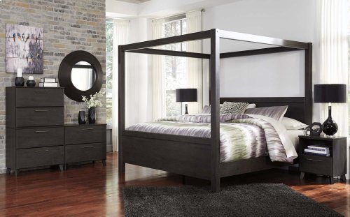 Daltori - Black 3 Piece Bed Set (King)