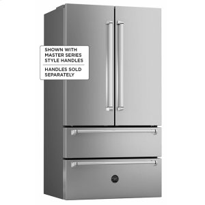 "Bertazzoni36"" French door refrigerator - Freestanding - Stainless"