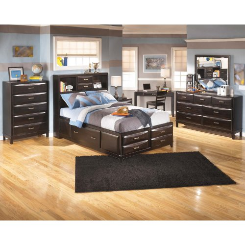 Kira - Almost Black 3 Piece Bed Set (Full)