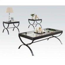Black 3pc Pk Coffee/end Table