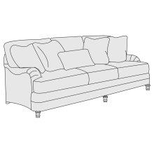 """Tarleton Sofa (86-1/2"""") in Brandy (703)"""