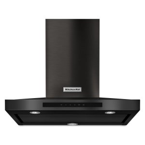 "KitchenAid30"" Wall-Mount, 3-Speed Canopy Hood Black Stainless Steel with PrintShield™ Finish"