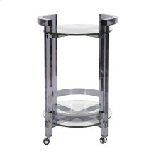 Smoked Acrylic Bar Cart