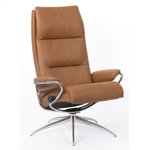 Stressless By EkornesStressless Tokyo High Back Star Base Chair and Ottoman