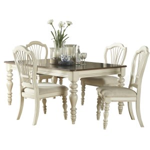 Hillsdale FurniturePine Island 5pc Dining Set With Wheat Chairs - Old White
