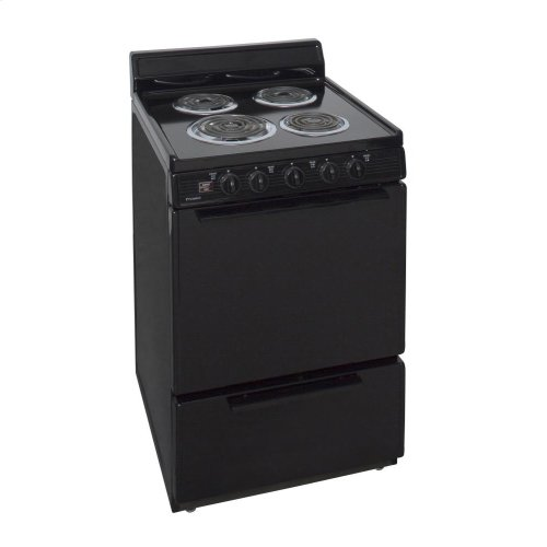 24 in. Freestanding Electric Range in Black