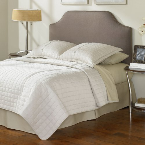 Bordeaux Upholstered Headboard with Adjustable Height and Sweeping Curve Design, Dolphin Finish, Twin