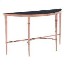 Elite Console Table Rose Gold & Black