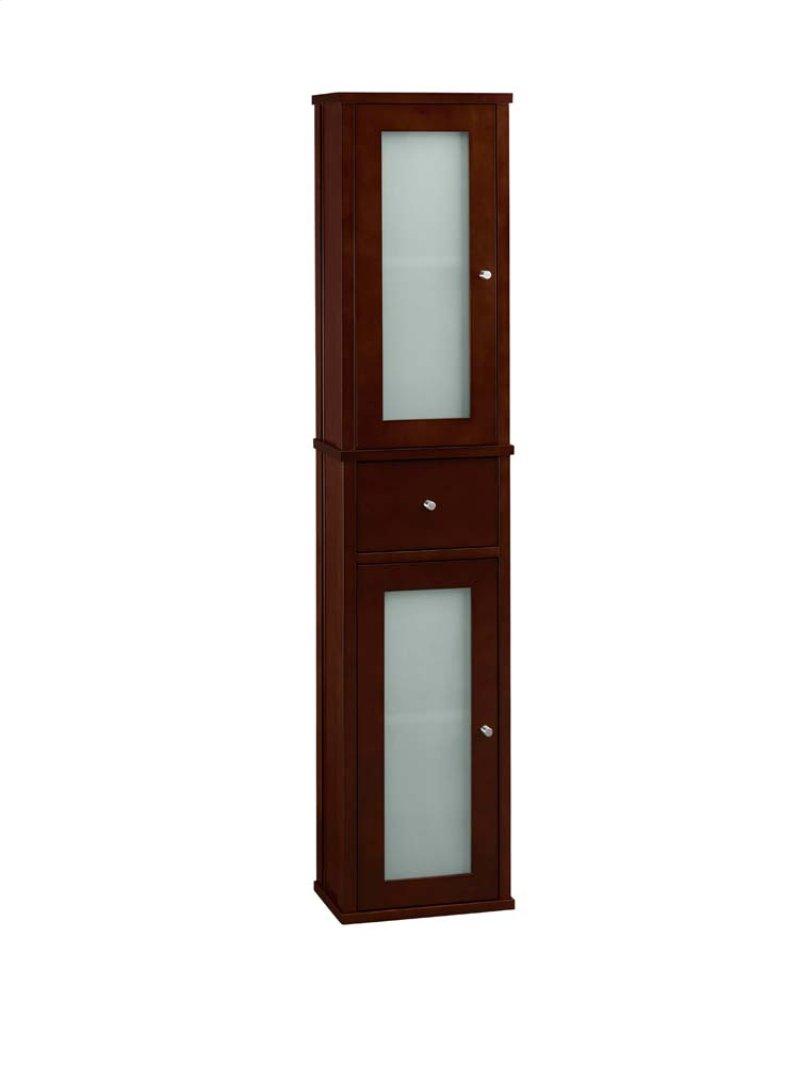 Tall 55 Bathroom Wall Cabinet In Dark Cherry