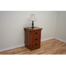 O-M448 Mission Oak Three Drawer Night Stand