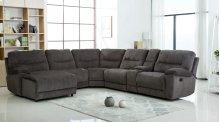 Nathan Gray Chenille Reclining Sectional