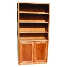 """Modern Oak 24"""" & 36"""" 2-Door Bookcase"""