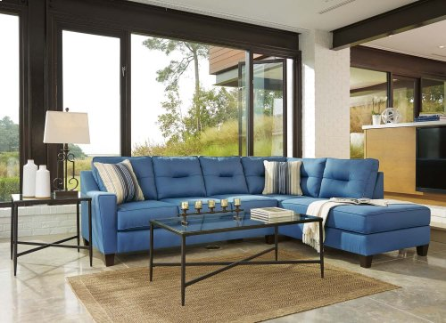 Kirwin Nuvella - Blue 2 Piece Sectional
