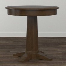 "Dining 48"" Round Pedestal Table and 4 Upholstered Chair Combination"