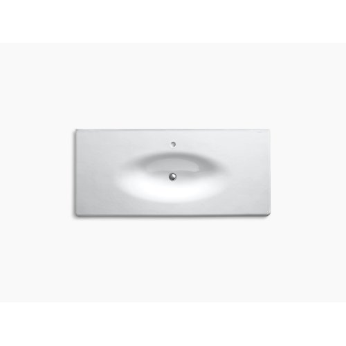 "Almond 49"" Vanity-top Bathroom Sink With Single Faucet Hole"