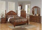 Kit- Walnut E.KING Bed Hb/fb/r