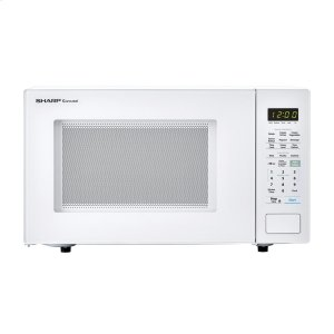 1.4 cu. ft. 1000W Sharp White Countertop Microwave Oven -
