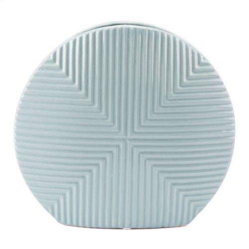 Herringbone Vase Blue