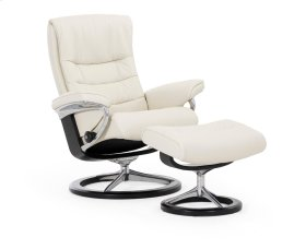 Stressless Nordic Small Signature Base Chair and Ottoman
