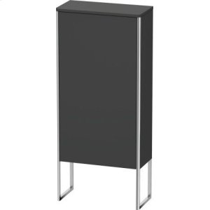 Semi-tall Cabinet Floorstanding, Graphite Matt (decor)