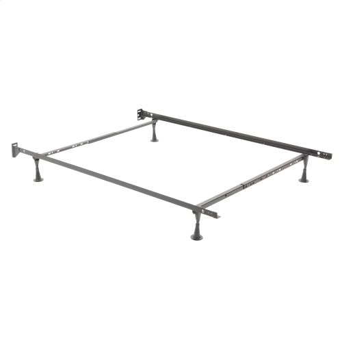 Restmore Adjustable 45G Bed Frame with Fixed Headboard Brackets and (4) Glide Legs, Twin / Full