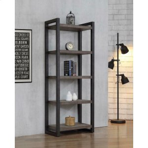 "CoasterLuke Weathered Oak 70"" Bookcase"