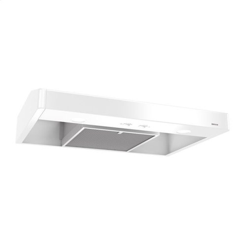 Tenaya 30-inch 250 CFM White Under-Cabinet Range Hood with light
