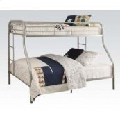 Silver Twin/queen Bunk Bed