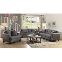 Samuel Transitional Charcoal Sofa