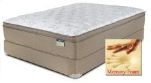 "Comfortec - 4000 - Memory Foam - 15"" Euro Box Top - Queen"