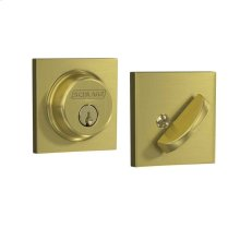 Single Cylinder Deadbolt with Collins Trim - Satin Brass