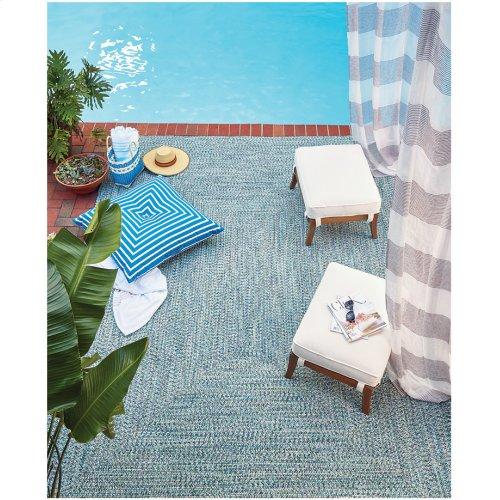 Sea Glass Ocean Blue Braided Rugs