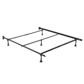 Restmore Adjustable PLQ45G Posi-Lock Single Angle Cross Support Bed Frame with Headboard Brackets and (5) 2.5-Inch Glide Legs, Full / Queen