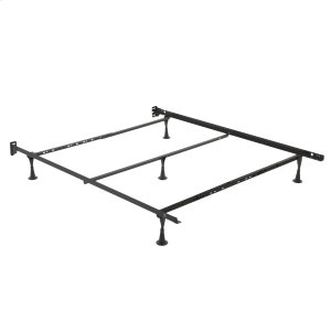 Leggett And PlattRestmore Adjustable PLQ45G Posi-Lock Single Angle Cross Support Bed Frame with Headboard Brackets and (5) 2.5-Inch Glide Legs, Full / Queen