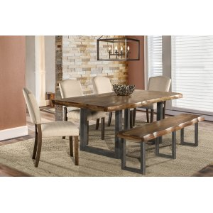 Hillsdale FurnitureEmerson 6-piece Rectangle Dining Set With One (1) Bench and Four (4) Chairs - Natural Sheesham