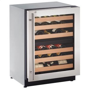 "U-Line24"" Dual-zone Wine Refrigerator With Stainless Frame Finish and Right-hand Hinge Door Swing (115 V/60 Hz Volts /60 Hz Hz)"