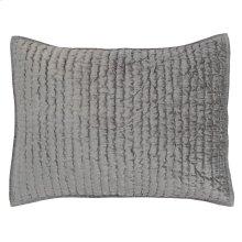 Bari Velvet Gray Standard Sham Set
