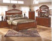 Fairbrooks Estate - Reddish Brown 5 Piece Bed Set (King)