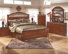 Fairbrooks Estate - Reddish Brown 5 Piece Bed Set (King)