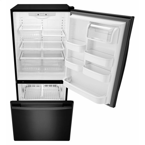 29-inch Wide Bottom-Freezer Refrigerator with EasyFreezer Pull-Out Drawer -- 18 cu. ft. Capacity - Black