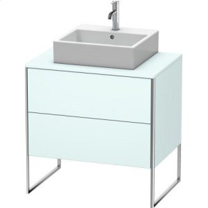 Vanity Unit For Console Floorstanding, Light Blue Matt Decor