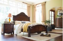 North Shore - Dark Brown 3 Piece Bed Set (Cal King)