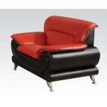 Red/bk Bonded Leather Chair