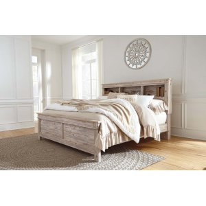 Ashley Furniture Willabry - Weathered Beige 3 Piece Bed Set (King)
