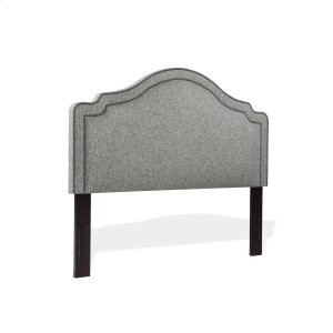 Fashion Bed GroupBeatrix Upholstered Headboard with Adjustable Height and Nailhead Trim, Ash Gray Finish, Full / Queen