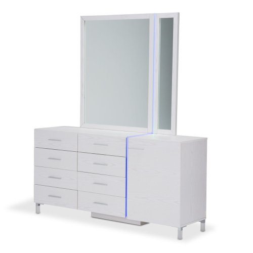 Dresser& Mirror W/led Lighting