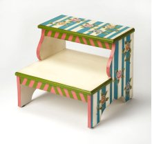 This artisan-crafted step stool was designed to provide that extra step-up. Equally well-suited for use beside the bed, in the den or kitchen, it may be used wherever a little extra reach is needed. It is crafted from poplar hardwood solids and wood produ